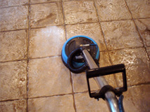 Tile cleaning in action
