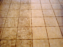 Cleaning tiles before and after