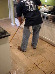 Tile cleaning example